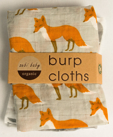 Milkbarn Set of 2 Burp Cloths - assorted-styles, baby-shower-gifts, burp cloth, burp cloths, burpies, clothes, Fox, gifts-for-the-occasion, Goose, Milkbarn, new-arrivals-in-kids, newborn, organic-cotton, Polar Bear