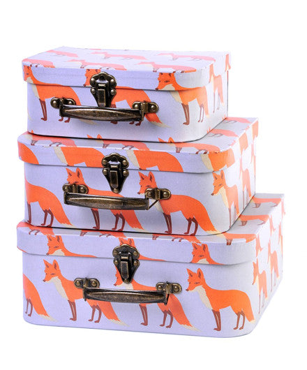 Milkbarn Orange Fox Suitcase Set - Kids Boxes - Shop Nectar