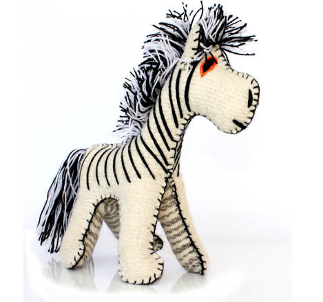 Twoolies Handmade Fair Trade Wool Zebra - Stuffed Animals - Shop Nectar - 1