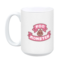Bee and PuppyCat Poo Monster Logo Mug