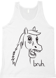 Bravest Warriors Men's Paralyzed Horse Bruh Blk