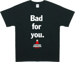 Cartoon Hangover - Bad for you Men's T-shirt BLK