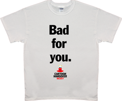 Cartoon Hangover - Bad for you Men's T-shirt WHT