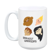 Bravest Warriors Team White Mug