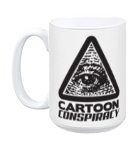 Cartoon Conspiracy White Mug