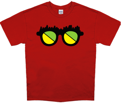 Channel Frederator Men's Fred Glasses T-Shirt