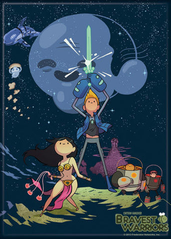 Bravest Warriors Star Wars Parody Magnet