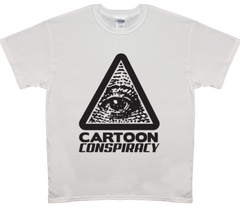Cartoon Conspiracy Men's Black Logo T-Shirt