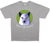 Men's Tony Crynight Wolf White Logo T-Shirt