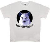 Men's Tony Crynight Wolf Black Logo T-Shirt