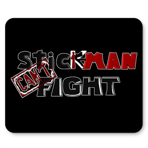 Stickman Can't Fight Logo Mouse Pad