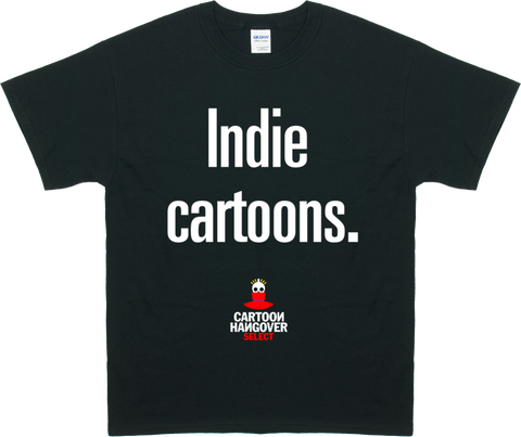 Cartoon Hangover - Indie Men's T-shirt BLACK