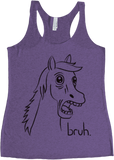 Bravest Warriors Women's Paralyzed Horse Bruh Blk