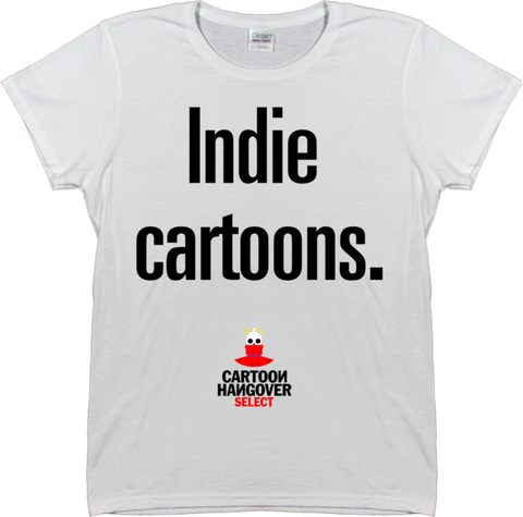 Cartoon Hangover - Indie Women's T-shirt WHITE