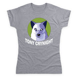 Tony Crynight - Wolf White Logo Women's T Shirt