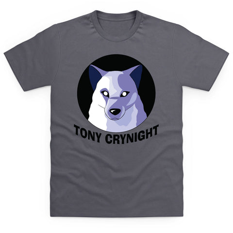 Tony Crynight - Wolf Black Logo Men's T Shirt