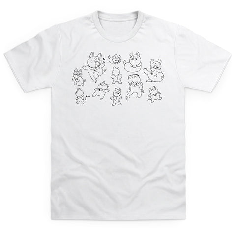 Puppycat Sketch Men's T Shirt