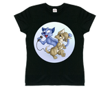 Women's Gloomy Cat & Bubblegum (Blue) T-Shirt