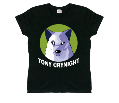 Women's Tony Crynight Wolf White Logo T-Shirt