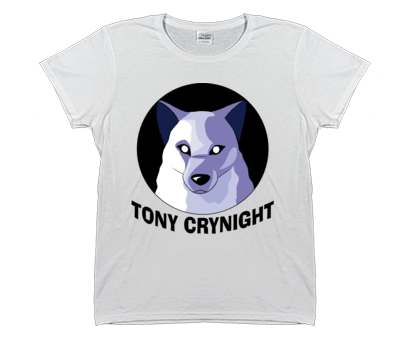 Women's Tony Crynight Wolf Black Logo T-Shirt