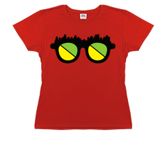 Channel Frederator Women's Fred Glasses T-Shirt