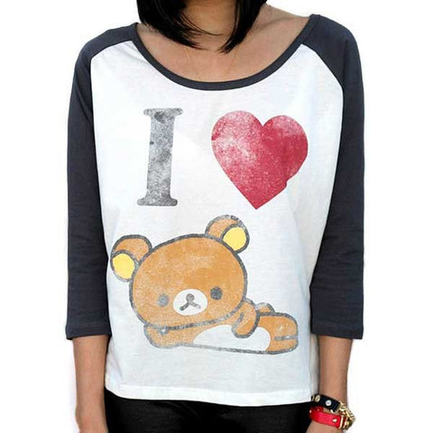 Women's I Love Rilakkuma Baseball Shirt