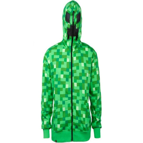 Minecraft - Men s Creeper Zip Up Hoodie  29b572c67