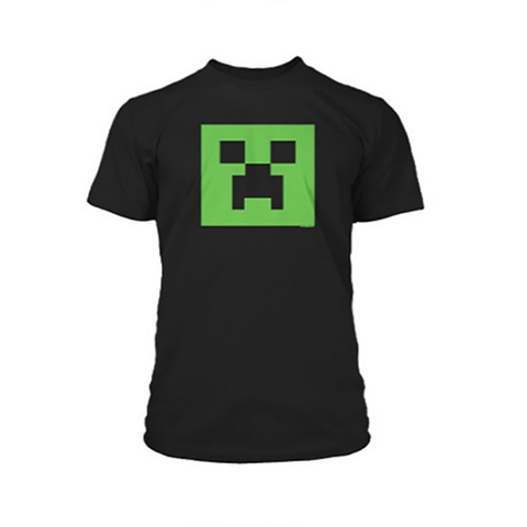 Minecraft Creeper Glow in the Dark Face Premium Tee