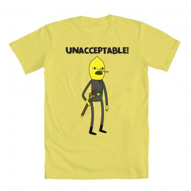 Adventure Time Men's Lemongrab Unacceptable T-Shirt