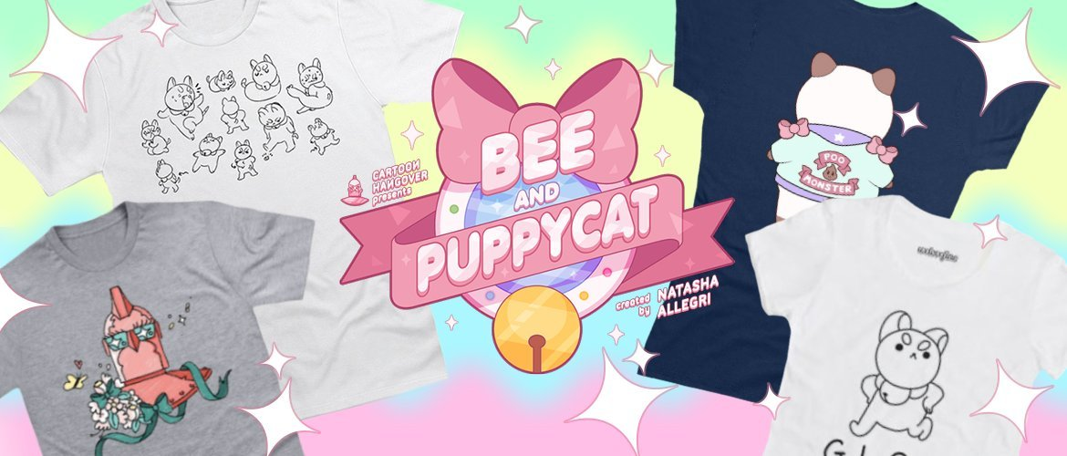 Bee and PuppyCat Shirts