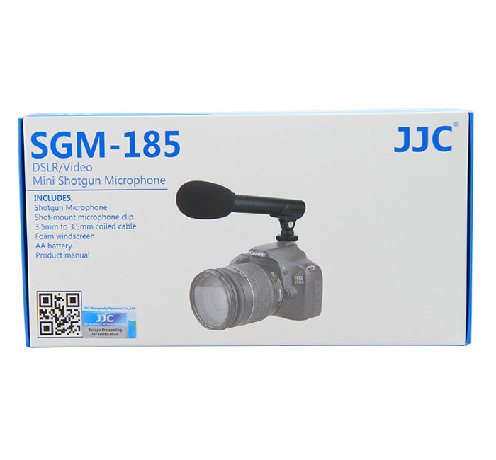 JJC SGM-185 DSLR/Video Mini Shotgun Microphone