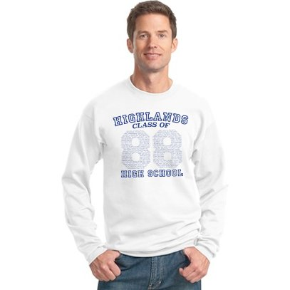 Vintage 80's HHS Senior Sweatshirt *Recreation Available