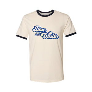 Vintage Inspired Blue & White Fan Tshirt
