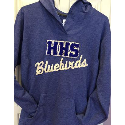 HHS Bluebirds - distressed applique