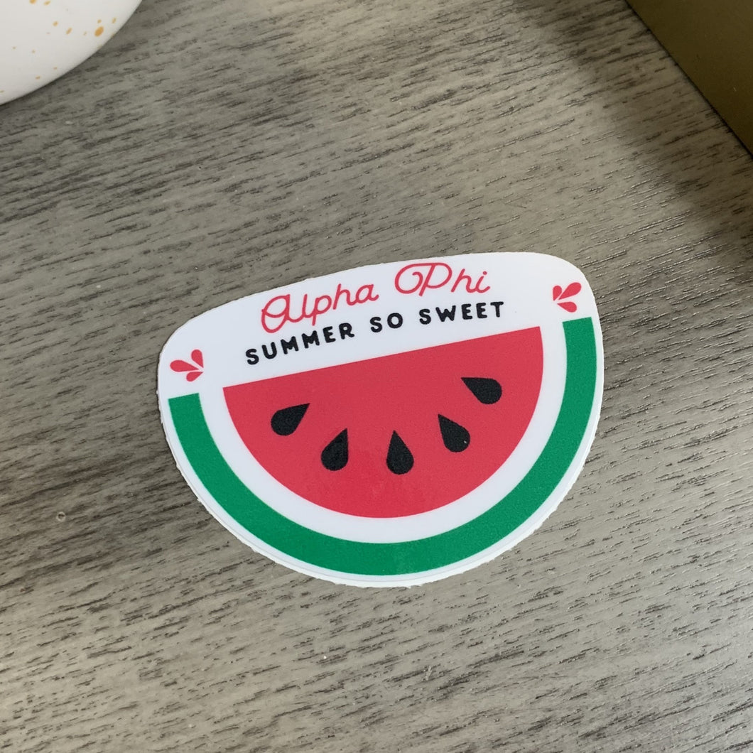 Alpha Phi - Watermelon Sweet Sticker