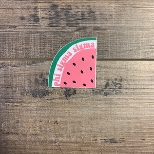 Phi Sigma Sigma - Watermelon Slice Sticker