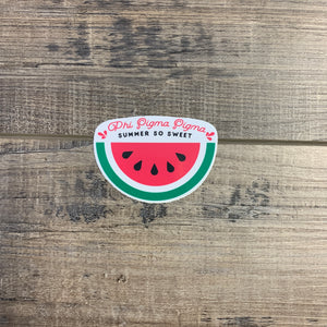 Phi Sigma Sigma - Sweet Watermelon Sticker