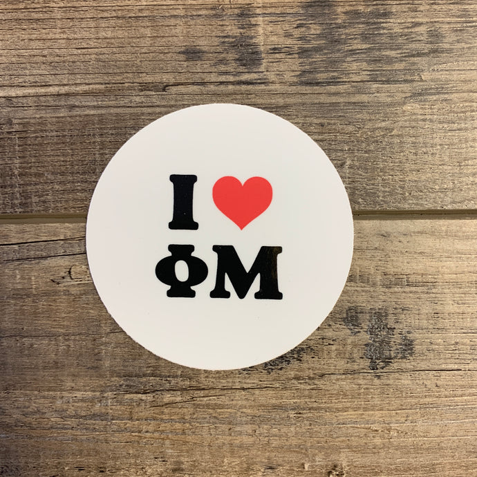 Phi Mu - Heart AOII Sticker