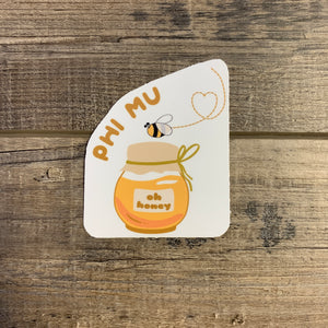 Phi Mu - Honey Bee Sticker