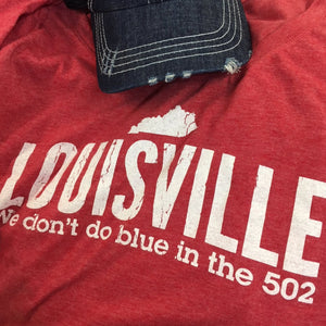 No Blue in the 502!  Louisville Cardinal Design (118)