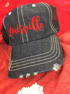 Louisville Denim Trucker Cap (158)