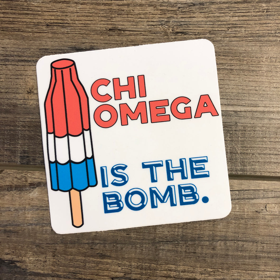 Chi Omega - BOMB POP Sticker