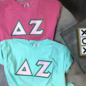 Delta Zeta - Comfort Colors Stitch