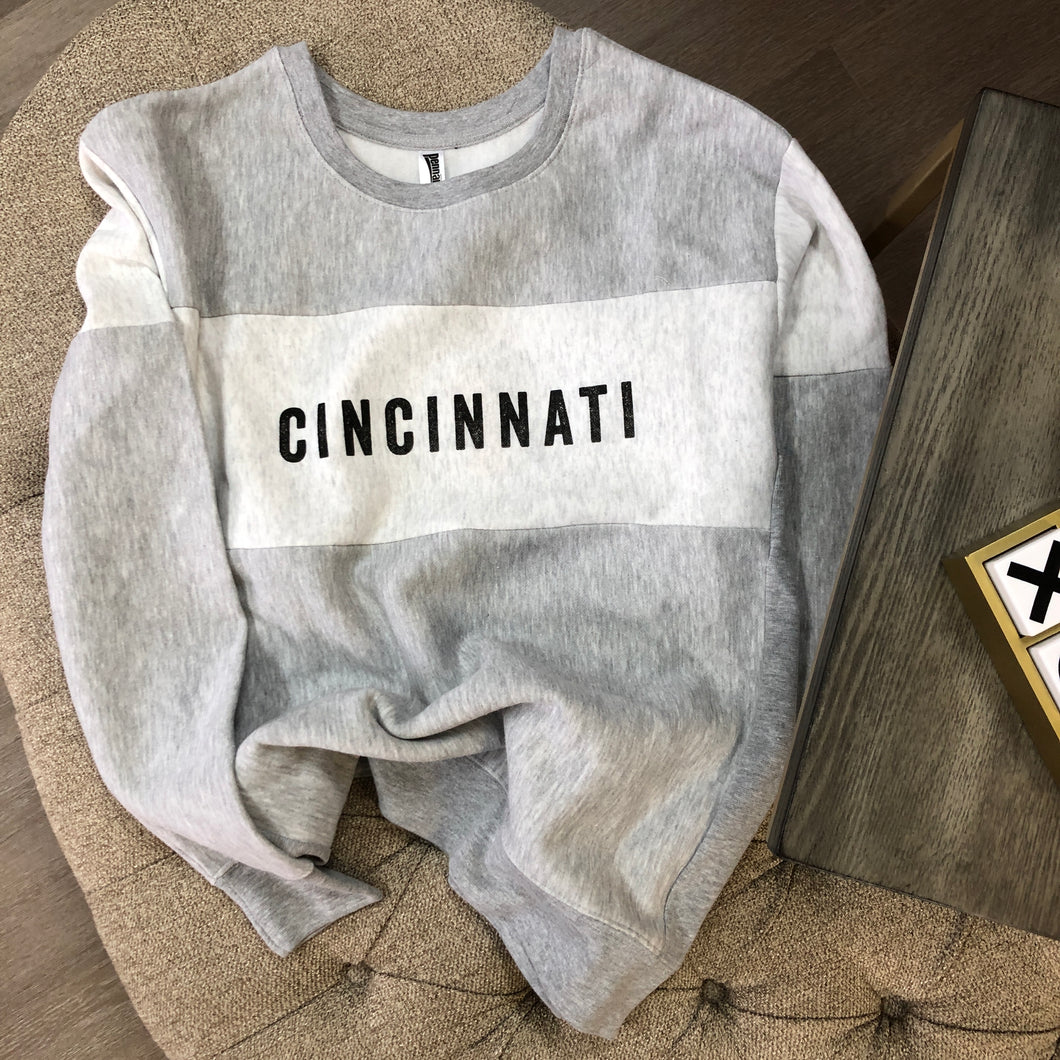 Cincinnati Colorblock Crew Sweatshirt