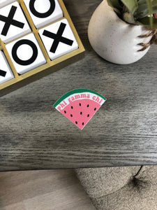 Phi Gamma Chi - Watermelon Slice Sticker