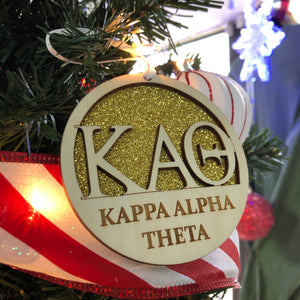 Kappa Alpha Theta - Holiday Ornament