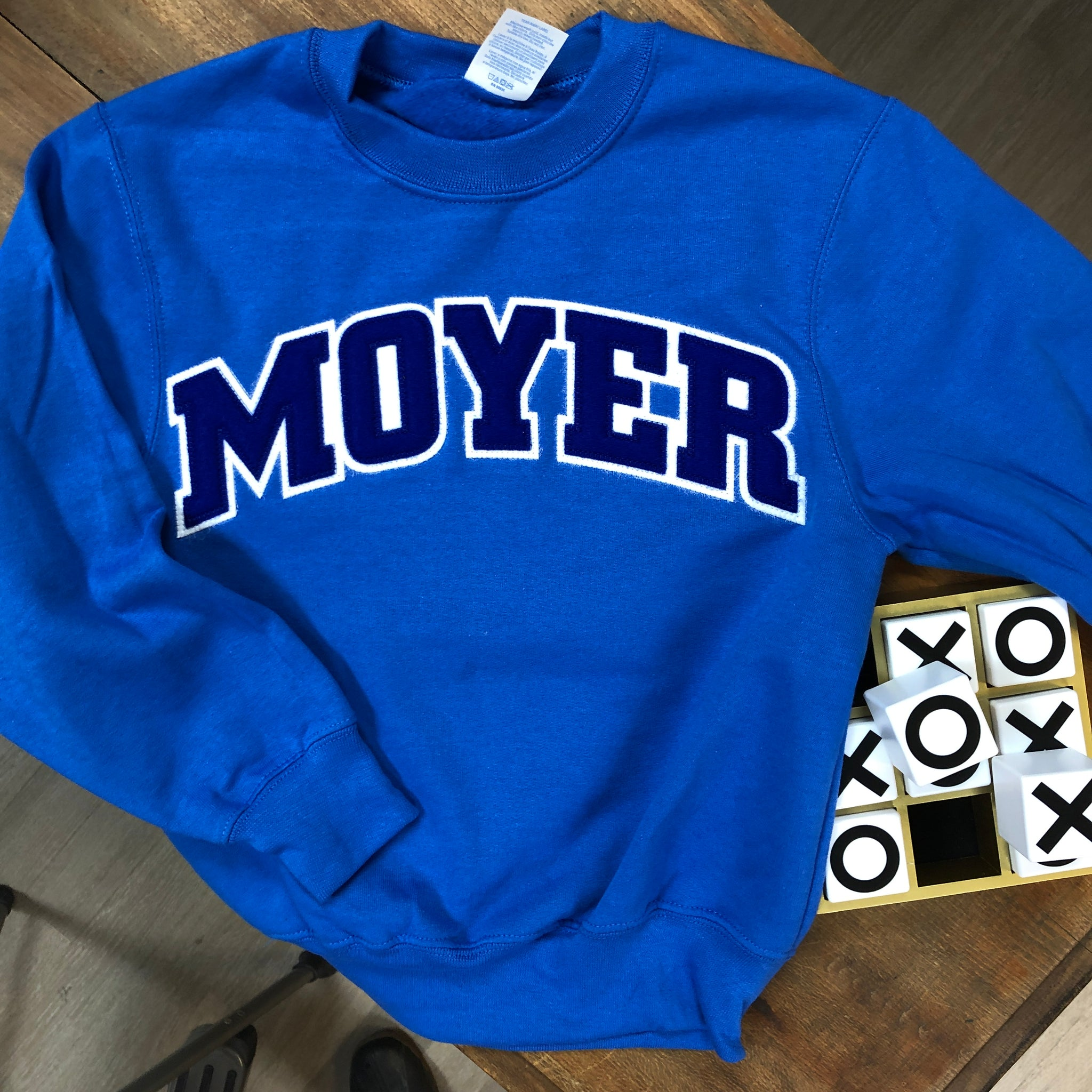Moyer Elementary YOUTH Applique Sweatshirt