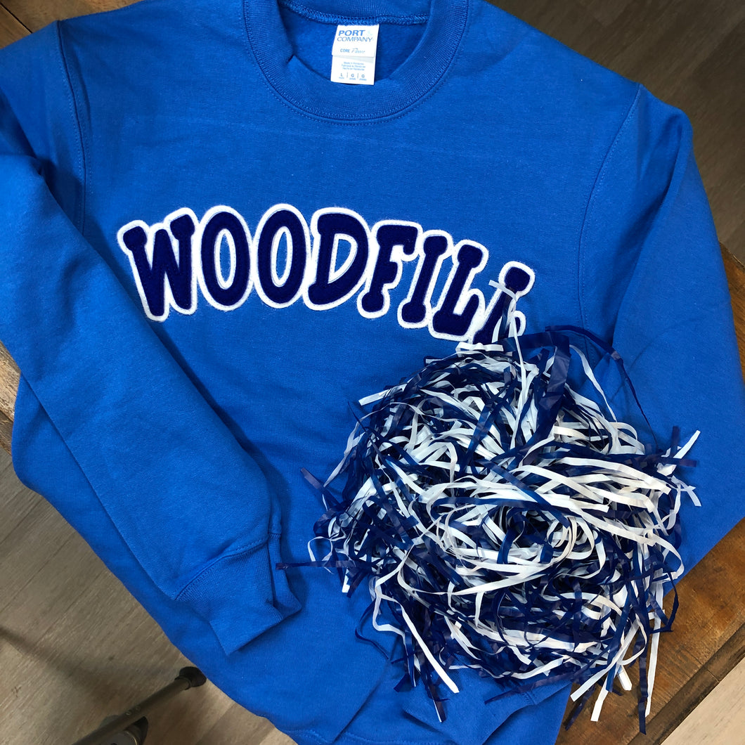 Woodfill Elementary YOUTH Applique Sweatshirt