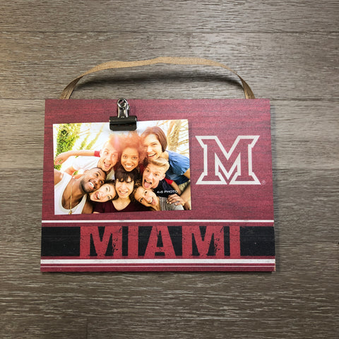 Clip It Weathered Logo Photo Frame - Miami of Ohio