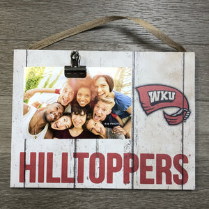 Clip It Weathered Logo Photo Frame - Western KY Hilltoppers